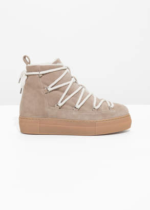 And other stories Suede Snow Boots