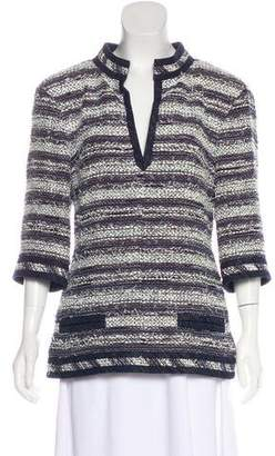 Chanel Striped Tweed Top