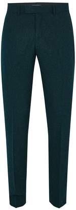 Topman FARAH'S Teal 'Henderson Hopsack' Suit Trousers