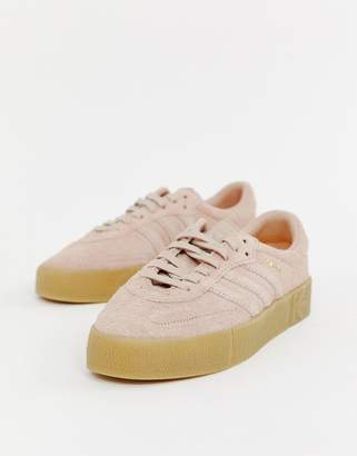 105108f98b17a2 adidas Samba Rose Trainers In Pink With Gum Sole