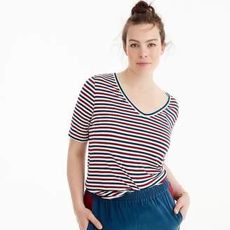 J.Crew Universal Standard for jersey V-neck T-shirt in stripe