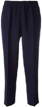 Kiltie cropped high-waist trousers