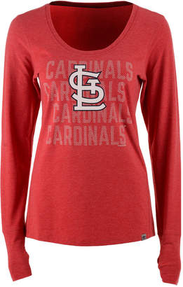 '47 Women's St. Louis Cardinals Forward Long-Sleeve T-Shirt