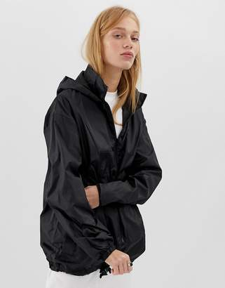 Asos DESIGN rain jacket with fanny pack