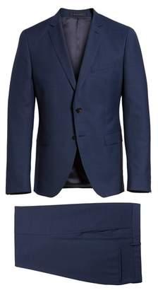 BOSS Reymond/Wenten Extra Trim Fit Check Wool Suit