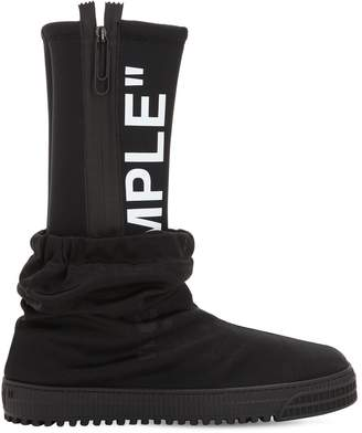 "Off-White ""Sample"" Neoprene & Tulle Rain Boots"