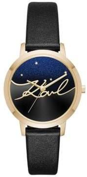 Karl Lagerfeld Camille Textured Strap Watch