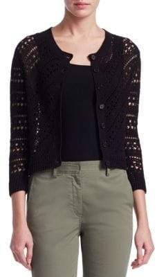 Theory Crochet Knit Cardigan