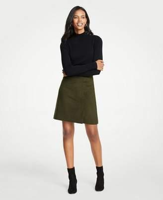 Ann Taylor Petite Wool Blend A-Line Skirt