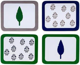 Joanna Buchanan Set of 4 Leaf & Tree Coasters - Blue/Green