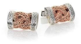 John Hardy Classic Chain Braided Cuff Links