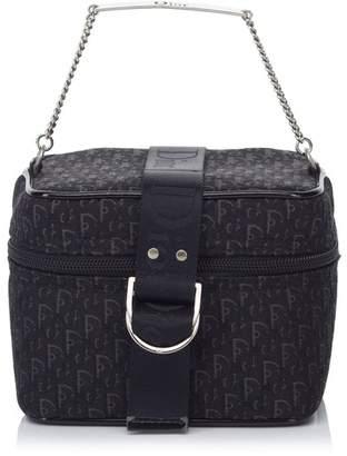 Christian Dior Vintage Oblique Jacquard Vanity Bag