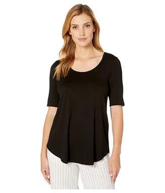 Karen Kane Short Sleeve Shirttail Top