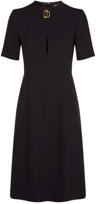 Burberry Silk-Wool Midi Dress