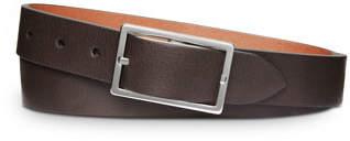 Shinola Reversible Rectangular-Buckle Leather Belt