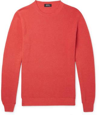 A.P.C. Edouard Waffle-knit Cotton Sweater