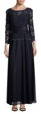 Cachet Floral Lace Gown