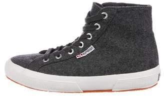 Superga Woven High-Top Sneakers