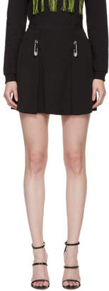 Versus Black Pleated Safety Pin Skirt