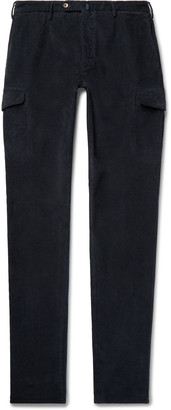 Incotex Slim-Fit Tapered Cotton-Blend Corduroy Cargo Trousers