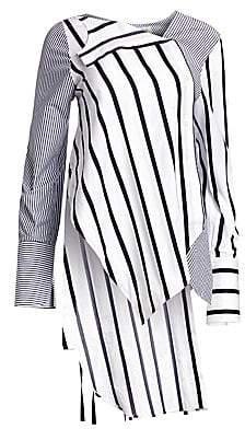 Monse Women's Falling Contrast Stripe Cotton Shirt - Size 0
