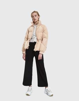 Ganni Whitman Short Puffer Jacket in Hazelnut