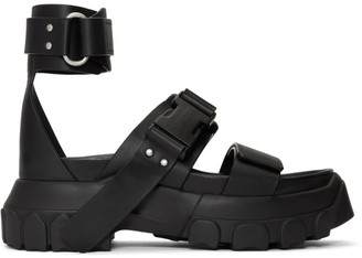 Rick Owens Black Hiking Spartan Sandals