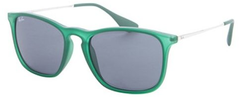 Ray-Ban green rubberized 'Chris' square sunglasses