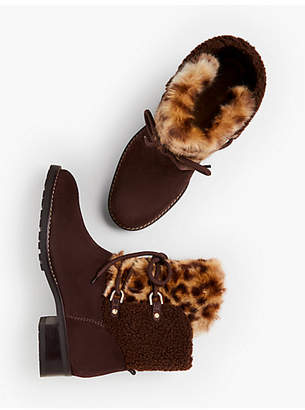 Talbots Tish Shearling-Lined Ankle Boots