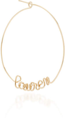 Atelier Paulin Single Custom 6-10 Letter Hoop