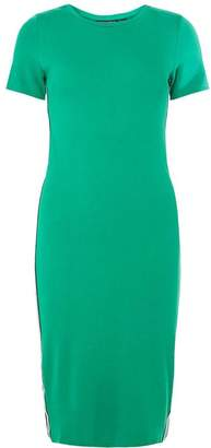 Dorothy Perkins Womens Green Short Sleeve Bodycon Dress