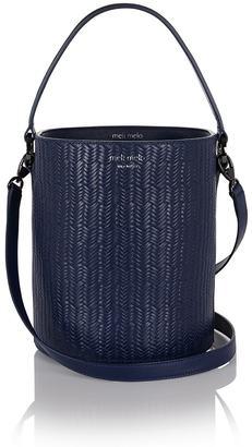 Santina Bucket Bag Midnight Blue Woven