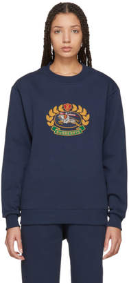 Burberry Navy Crest Sweatshirt
