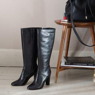 ea8f09fa3 La Redoute COLLECTIONS Leather Knee High Block Heel Boots