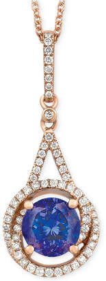 LeVian Le Vian Tanzanite (1-1/5 ct. t.w.) and Diamond (1/4 ct. t.w.) Pendant Necklace in 14k Rose Gold