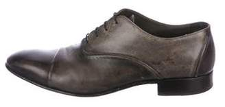 Lanvin Distressed Leather Oxfords