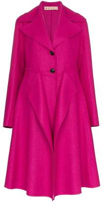 Marni single-breasted layered coat