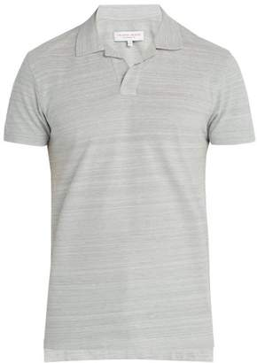 Orlebar Brown Felix Cotton Pique Polo Shirt - Mens - Grey