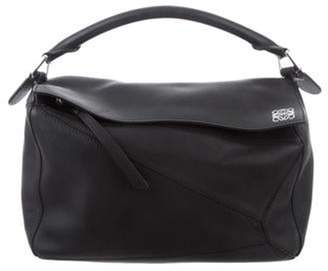 Loewe Leather Puzzle Bag Black Leather Puzzle Bag