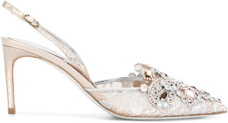 embellished slingback pumps
