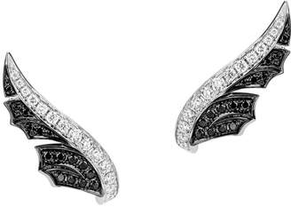 Stephen Webster White Gold and Pavé Diamond Magnipheasant Stud Earrings