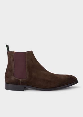 Paul Smith Men's Dark Brown Suede 'Gerald' Chelsea Boots