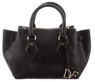 Diane von Furstenberg Grained Leather Satchel