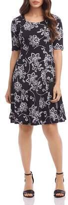 Karen Kane Floral-Paisley-Print Dress