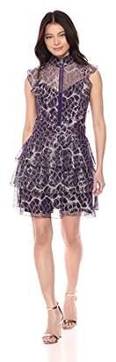 Wild Meadow Women's Lace Flounce Cocktail Dress M