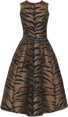 Carolina Herrera Printed Pleat Midi Dress