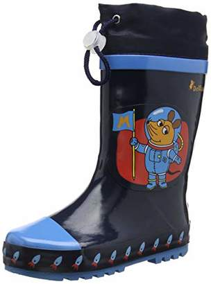 Playshoes Unisex Kids' Wellies Mouse Space Wellington Boots,28/29 EU