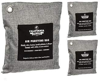 3-Pack Naturally Activated Bamboo Air Purifier Bags - 1x 200g & 2X 500g Activated Charcoal Deodorizers for Home & Business