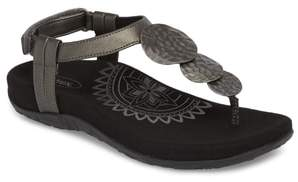 Aetrex Olive T-Strap Sandal