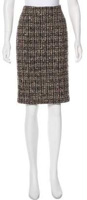 Agnona Knee-Length Bouclé Skirt
